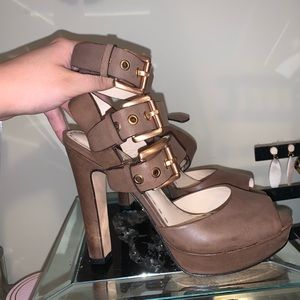 Coach Brown leather heels